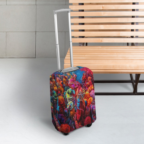 Чехол для чемодана 3D  Фото 03, Индуистский фестиваль красок Х