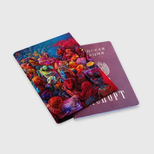 Обложка для паспорта матовая кожа  Фото 03, Индуистский фестиваль красок Х