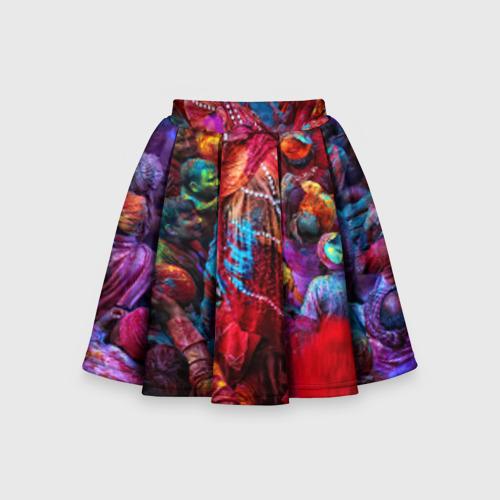 Детская юбка-солнце 3D Индуистский фестиваль красок Х