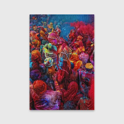Обложка для паспорта матовая кожа  Фото 01, Индуистский фестиваль красок Х