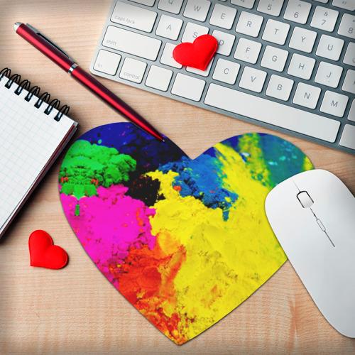 Коврик для мыши сердце  Фото 02, Индуистский фестиваль красок