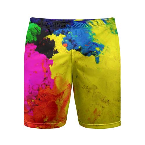Мужские шорты 3D спортивные Индуистский фестиваль красок