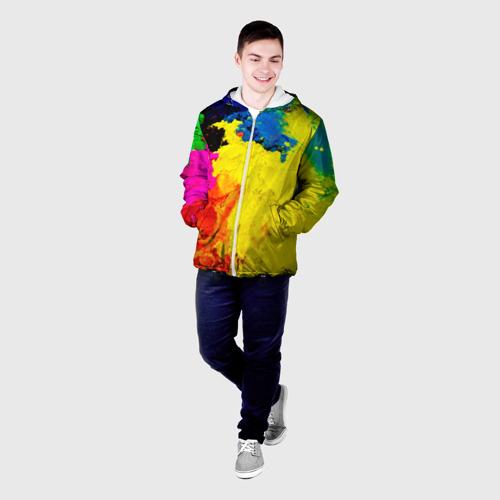 Мужская куртка 3D  Фото 03, Индуистский фестиваль красок