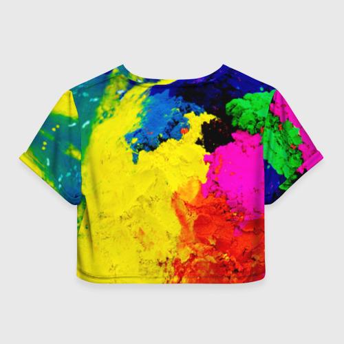 Женская футболка Cropp-top Индуистский фестиваль красок Фото 01