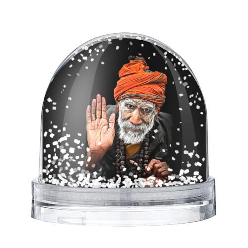 Водяной шар со снегом Индус монах аскет