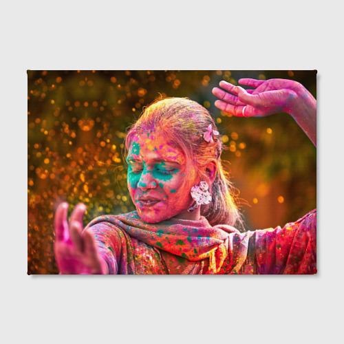 Холст прямоугольный  Фото 02, Индуистский фестиваль красок