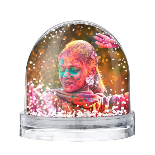 Водяной шар со снегом Индуистский фестиваль красок