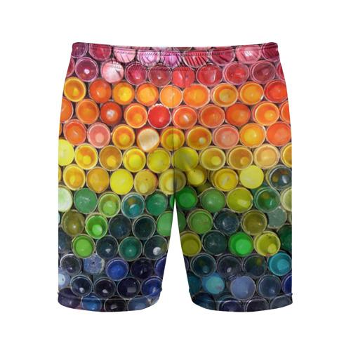 Мужские шорты 3D спортивные Краски