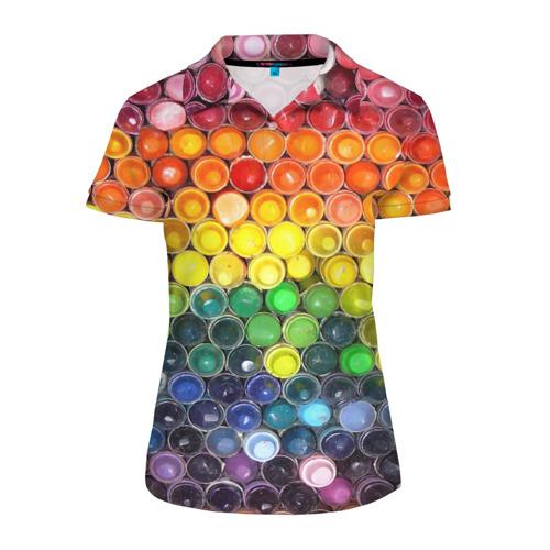 Женская рубашка поло 3D Краски