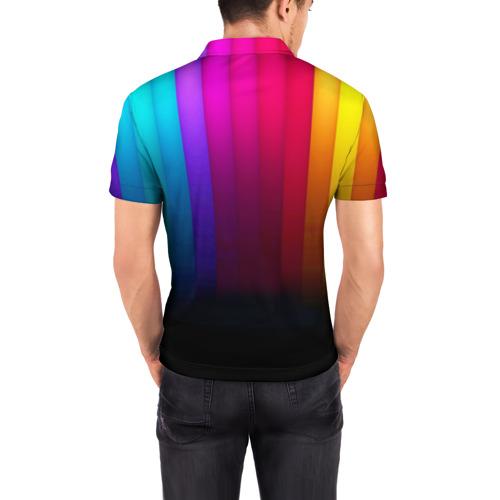 Мужская рубашка поло 3D  Фото 04, Индуистский фестиваль красок