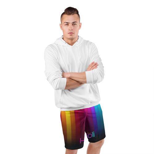 Мужские шорты 3D спортивные  Фото 05, Индуистский фестиваль красок