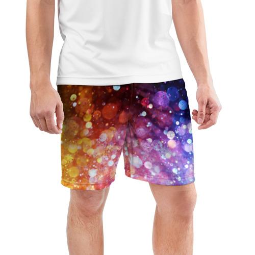 Мужские шорты 3D спортивные  Фото 03, Брызги