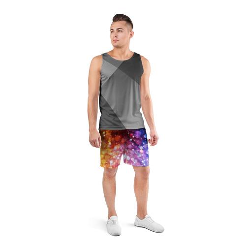 Мужские шорты 3D спортивные  Фото 04, Брызги