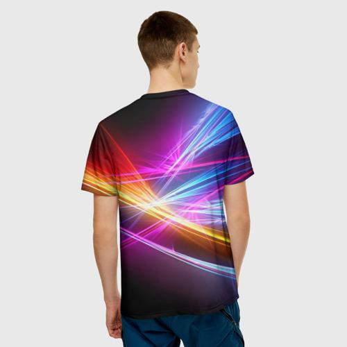 Мужская футболка 3D Лучи Фото 01