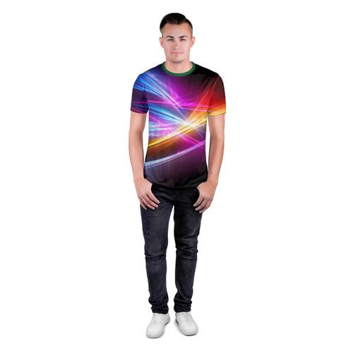 Мужская футболка 3D спортивная Лучи Фото 01