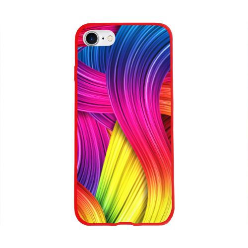 Чехол для Apple iPhone 8 силиконовый глянцевый Абстракция Фото 01