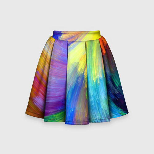 Детская юбка-солнце 3D Абстракция
