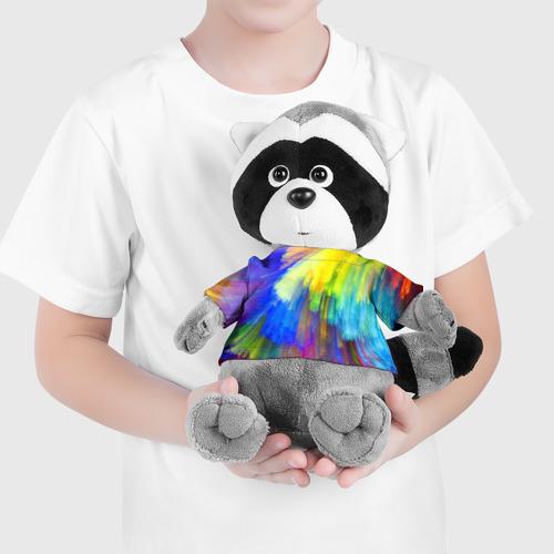 Енотик в футболке 3D Абстракция Фото 01