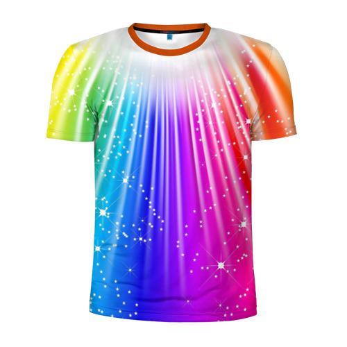 Мужская футболка 3D спортивная Солнце