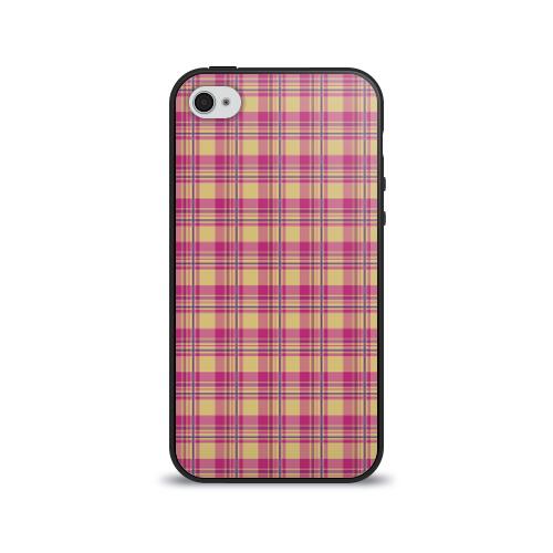 Чехол для Apple iPhone 4/4S силиконовый глянцевый В клеточку от Всемайки