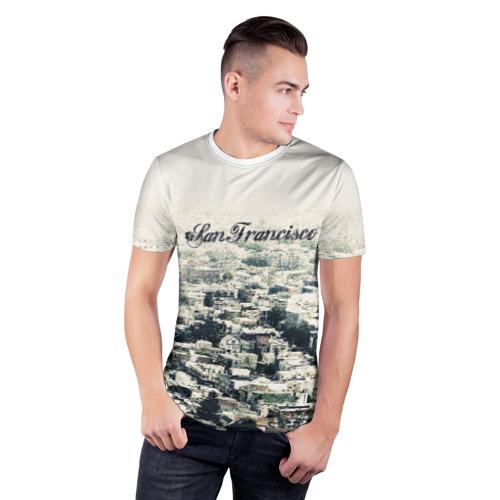 Мужская футболка 3D спортивная  Фото 03, San Francisco