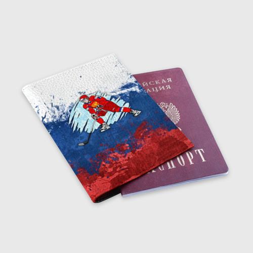 Обложка для паспорта матовая кожа  Фото 03, Хоккей