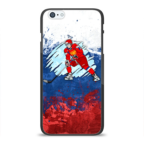 Чехол для Apple iPhone 6Plus/6SPlus силиконовый глянцевый  Фото 01, Хоккей