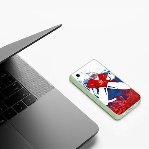 Чехол для iPhone 5/5S матовый Хоккей 1 Фото 01
