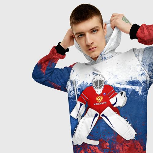 Мужская толстовка 3D Хоккей 1