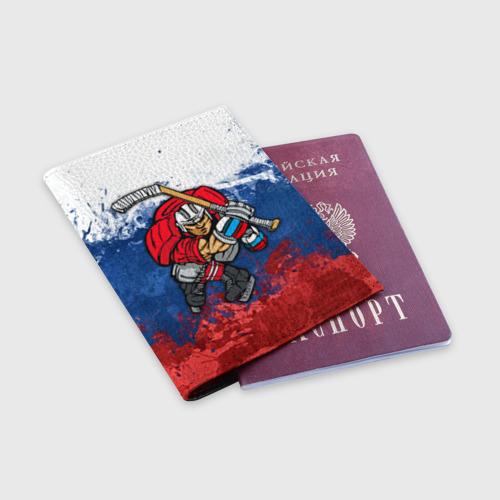 Обложка для паспорта матовая кожа  Фото 03, Хоккей 2