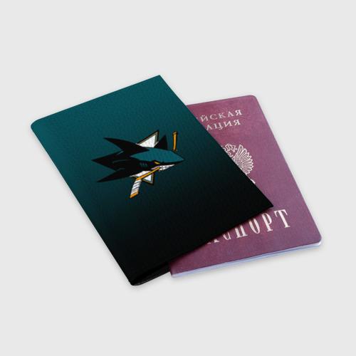 Обложка для паспорта матовая кожа  Фото 03, Сан-Хосе Шаркс
