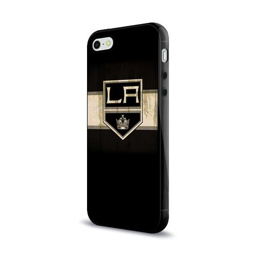 Чехол для Apple iPhone 5/5S силиконовый глянцевый  Фото 03, Лос-Анджелес Кингз