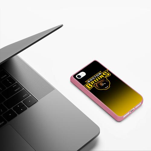 Чехол для iPhone 5/5S матовый Бостон Брюинз Фото 01
