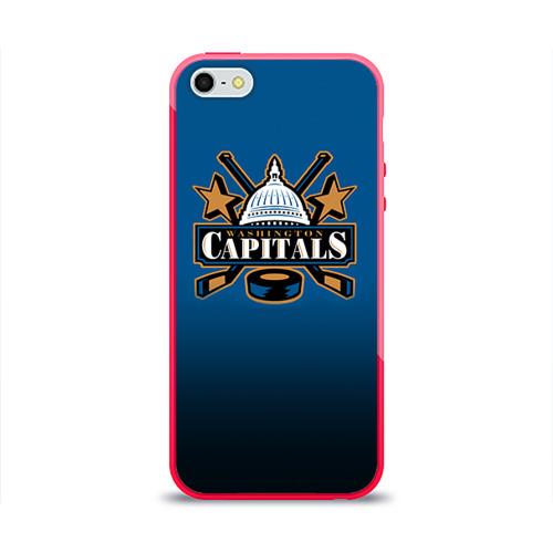 Чехол для Apple iPhone 5/5S силиконовый глянцевый Вашингтон Кэпиталз от Всемайки