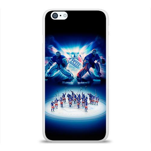 Чехол для Apple iPhone 6Plus/6SPlus силиконовый глянцевый  Фото 01, Нью-Йорк Рейнджерс