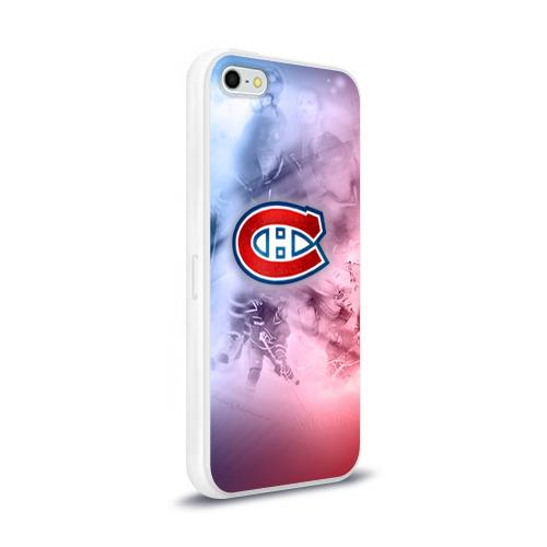Чехол для Apple iPhone 5/5S силиконовый глянцевый  Фото 02, Монреаль Канадиенс 1