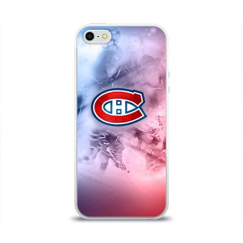 Чехол для Apple iPhone 5/5S силиконовый глянцевый  Фото 01, Монреаль Канадиенс 1