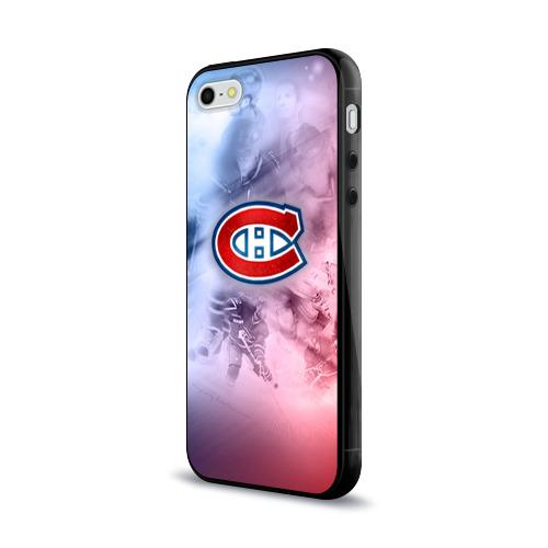 Чехол для Apple iPhone 5/5S силиконовый глянцевый  Фото 03, Монреаль Канадиенс 1