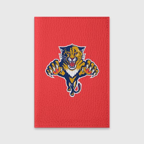 Обложка для паспорта матовая кожа Флорида Пантерз Фото 01