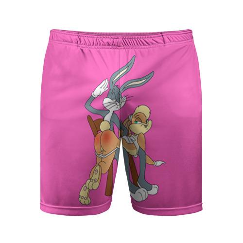 Мужские шорты 3D спортивные Зайки