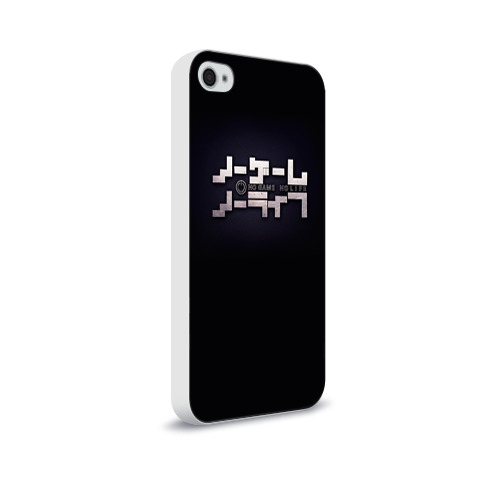 Чехол для Apple iPhone 4/4S soft-touch  Фото 02, No Game No Life лого