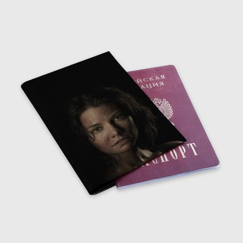 Обложка для паспорта матовая кожа  Фото 03, ГРИН