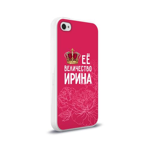 Чехол для Apple iPhone 4/4S силиконовый глянцевый  Фото 02, Её величество Ирина