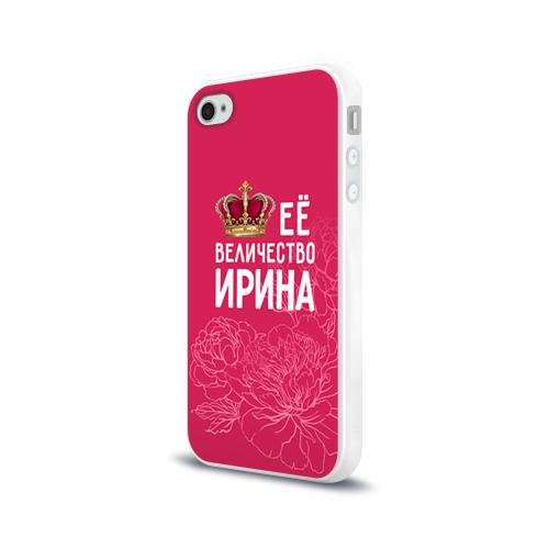 Чехол для Apple iPhone 4/4S силиконовый глянцевый  Фото 03, Её величество Ирина