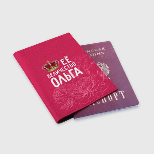 Обложка для паспорта матовая кожа  Фото 03, Её величество Ольга