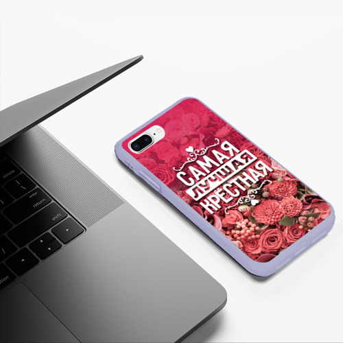 Чехол для iPhone 7Plus/8 Plus матовый Лучшая крёстная Фото 01