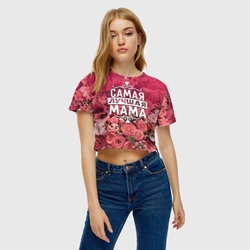 Женская футболка 3D укороченная  Фото 04, Лучшая мама