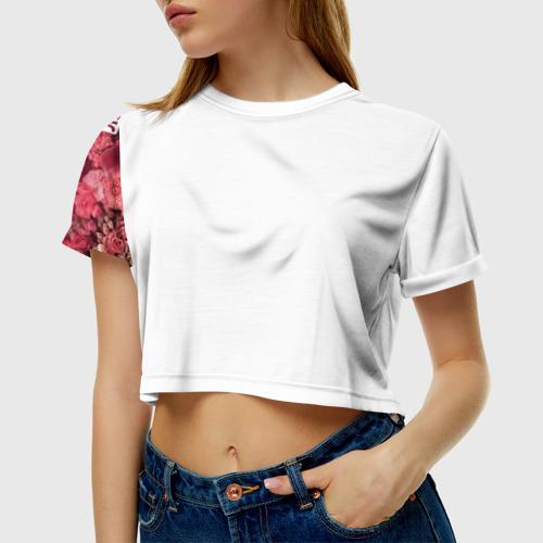 Женская футболка 3D укороченная  Фото 01, Лучшая мама