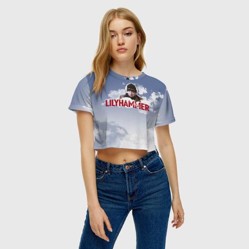 Женская футболка 3D укороченная  Фото 04, Лиллехаммер