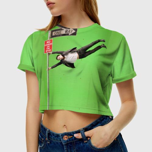 Женская футболка 3D укороченная  Фото 01, J Leto